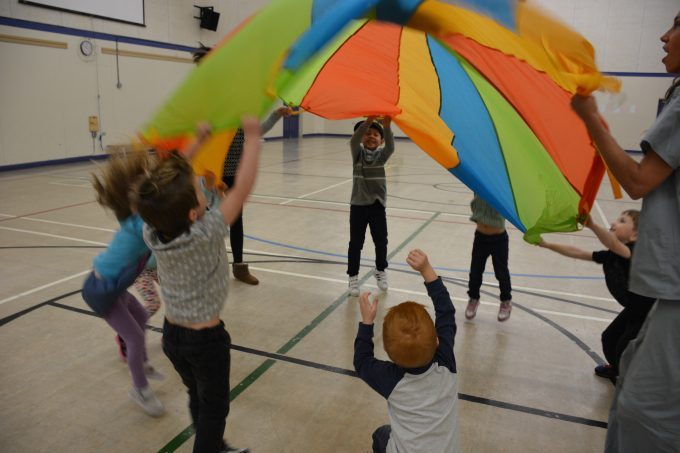 Gym time for preschoolers at VCS