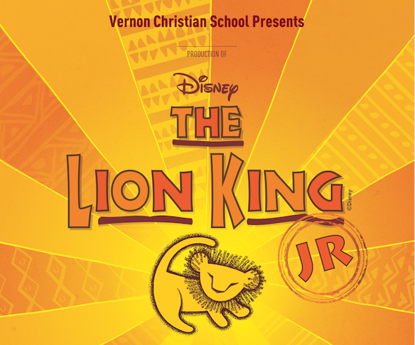 Lion King Vernon Christian School Musical Production 2020