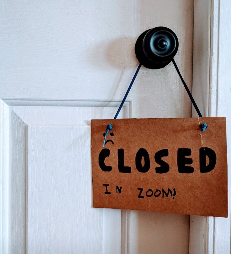 zoom closed door